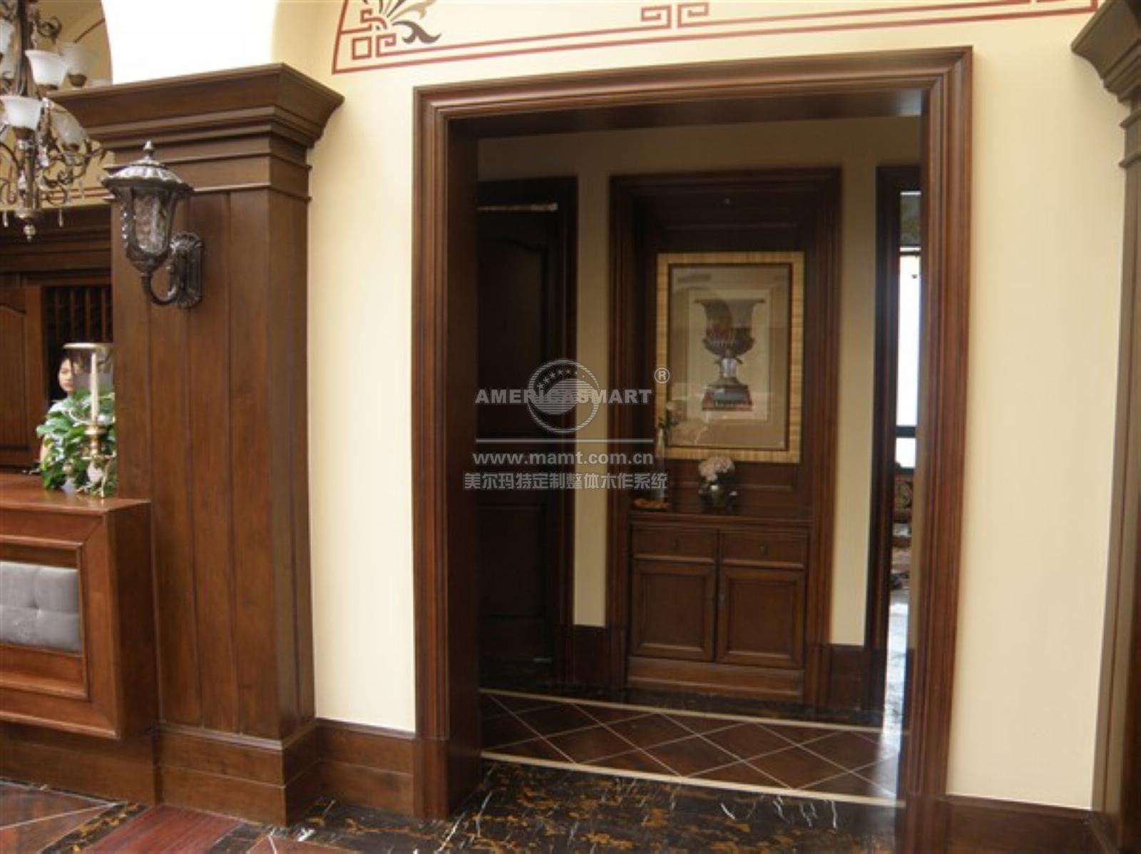 门厅过道玄关柜及过道门框